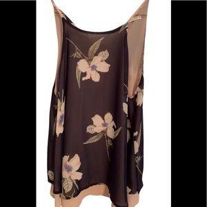 Le Lis medium black & peach light floral cami top